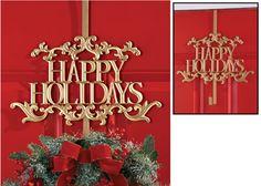 Happy Holidays Metal Wreath Hanger