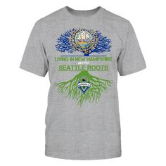 Seattle Sounders - Living Roots New Hampshire T-Shirt, TIP: If you buy 2 or more (hint: make a gift for someone or team up) you'll save quite a lot on shipping.  Click the GREEN BUTTON, select your size and style.  The Seattle Sounders FC Collection, OFFICIAL MERCHANDISE  Available Products:          Gildan Unisex T-Shirt - $24.95 Gildan Women's T-Shirt - $26.95 District Women's Premium T-Shirt - $29.95 District Men's Premium T-Shirt - $28.95 Next Level Women's Premium Racerback Tank…