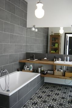 remodel a bathroom is certainly important for your home. Whether you choose the small laundry room or bathroom remodel shiplap, you will create the best serene bathroom for your own life. Bathroom Inspiration, New Homes, Bathroom Interior, Small Bathroom, Bathrooms Remodel, House, Home, Bathroom Design, Tile Bathroom