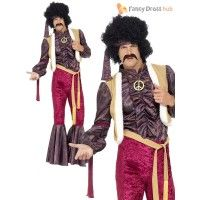 Men's 70s Psychedelic Rocker Costume - Stag Party Stag Fancy Dress, Rocker Costume, Wonder Woman, Costumes, Superhero, Dress Ideas, Psychedelic, Party, Dresses