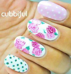 Polka dot & flores