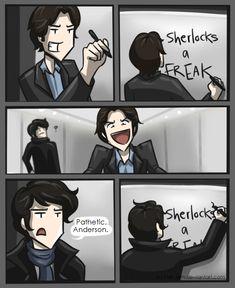 Sherlock: Pathetic, Anderson. by Star-Jem.deviantart.com on @deviantART