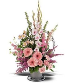 Pink Funeral Basket from Florist in Raleigh, NC - English Garden