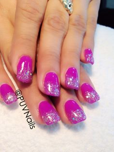 Gel Nail Designs with Glitter | gel nail designs with glitterGlitter gel nails design Nails Pinterest ...