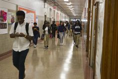 Students fill a hallway at Coolidge High School in Washington, D., between classes May Coolidge opened as a whites-only school in Walk To School, High School, Jessica Black, Calvin Coolidge, Interracial Family, Decision Making, Washington Dc, Missouri, African