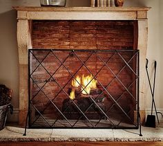 Layla Fireplace Screen | Fireplace screens, Screens and Living rooms