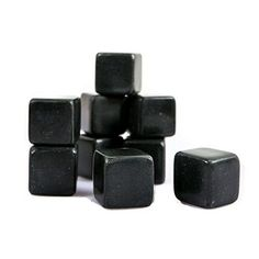 Lily's Home Whiskey Stones, Polished Black Whiskey Rocks Set Of 9