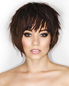 Today we have the most stylish 86 Cute Short Pixie Haircuts. We claim that you have never seen such elegant and eye-catching short hairstyles before. Pixie haircut, of course, offers a lot of options for the hair of the ladies'… Continue Reading → Short Hairstyles For Thick Hair, Short Pixie Haircuts, Short Hairstyles For Women, Short Bob Hairstyles, Edgy Short Hair Cuts For Women, Hairstyles Haircuts, Pixie Haircut Thin Hair, Hairstyles Pictures, Bandana Hairstyles