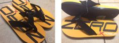 NEW with Tags Zero Xposur Size 10-11 Black/Yellow/Red/White Flip Flops Thongs Sandals $14