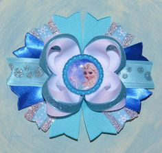 Disney Frozen Inspired Boutique Hair Bow on Etsy, $6.50