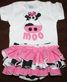 Shop for cow on Etsy, the place to express your creativity through the buying and selling of handmade and vintage goods. Cow Costumes, Baby Girl Dresses, Girl Outfits, Madison Paige, Ruffle Bloomers, Mary Margaret, Cow Print, Everything Baby, Twin Babies