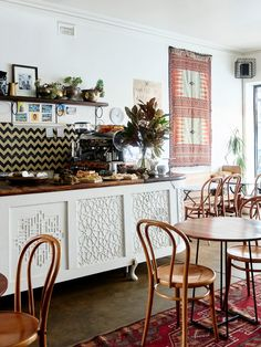 Jad and Hady Choucair's middle eastern eatery Mankoushe, located at 323 Lygon St, Brunswick East. Photo – Eve Wilson.