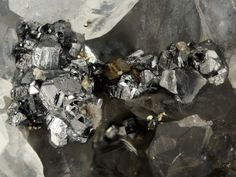 Krennerite, AuTe2, Sacarîmb (Nagyag), Hunedoara county, Romania. Fov 4 mm. Copyright: Stephan Wolfsried