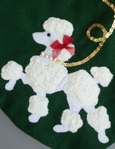 Prancing Poodle Christmas StockingBlack or by HeartfeltStockings