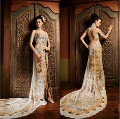Batik wedding dress.