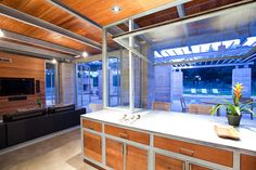 Sisters Retreat - contemporary - kitchen - austin - by Mell Lawrence Architects