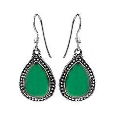 Green Onyx Dangle Earrings