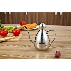 Shaddock 1L Stainless Steel Circular Oil Can