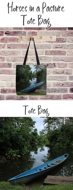 A tote bag with an image of a canoe in a river in the rain forest. Buy it here: https://www.redbubble.com/people/rhamm/works/12150090-river-boat-filled-with-water?asc=u&p=tote-bag&rel=carousel