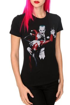 Amazon.com: DC Comics Batman Harley Quinn And Joker Girls T-Shirt