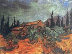 Vincent van Gogh. Wooden Sheds. Saint-Rémy: Dec 1889