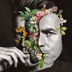 marcelo, monreal, collage, arte, artista, exposición, flores