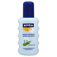 Nivea Sun - Spray Apres Soleil à l'aloé-véra -  Celui-ci est particulier... Ma peau aime, mais je ne sais pas si elle a raison... avec toutes substances qui sont dedans... Et en plus, c'est un souvenir de nos vacances à Malte -  200 ml: Amazon.fr: Hygiène et Soins du corps