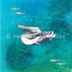"Collage-print  ""Floating"" von busy bee auf DaWanda.com"