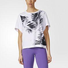 【adidas by Stella McCartney】 ESS パーム柄Tシャツ ウェア アパレル Tシャツ ポロシャツ [AX7429]|アディダス オンラインショップ -adidas 公式サイト-