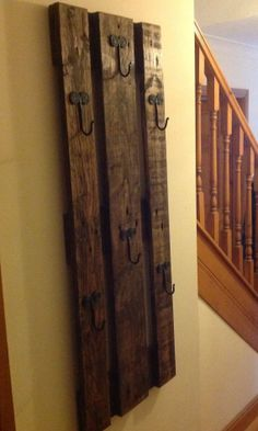 Wall mounted reclaimed coat rack. by HandmadebyRussell on Etsy, £24.99