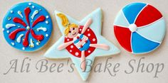 Ali Bee's Bake Shop: Patriotic Pool Party - Star TUTORIAL
