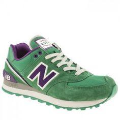 watch d261c b32f6 Womens Green New Balance 574 Stadium Jacket Trainers
