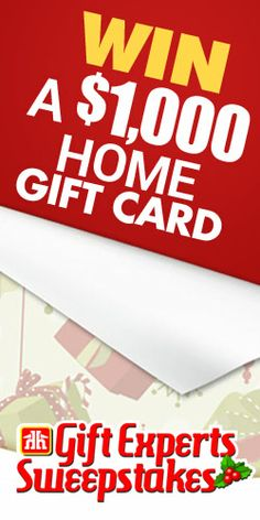 Win 1 of 4 $1,000 Gift Cards from Home Hardware