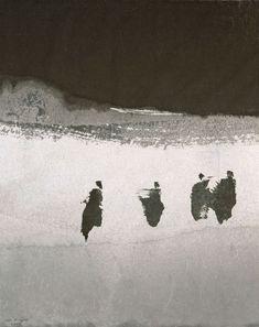 Gao Xingjian les marcheurs 2009, encre de chine sur papier