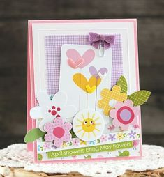 Bella Blvd Sweet Sweet Spring collection. May Flowers card by creative team member Laurie Schmidlin.