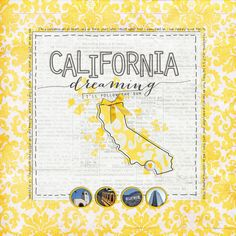 Idea for an intro page for our Cali vacay  by neeceebee 2010-california-trip