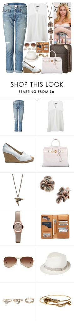 """""""Day 11: Leaving San Diego for Paris to finish the filming of «It Happened»"""" by shama25237 ❤ liked on Polyvore featuring True Religion, Vince, TOMS, Louis Vuitton, Hermès, Dorothy Perkins, Effy Jewelry, Marc by Marc Jacobs, Rayban and Anthony Peto"""