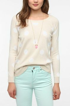 Lucca Couture Polka Dot Sweater  - Urban Outfitters