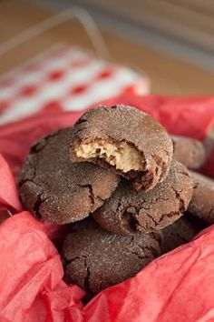 Chocolate Peanut Butter Surprise Cookies c/o Big Flavors From A Tiny Kitchen (from Sweet Pea's Kitchen)