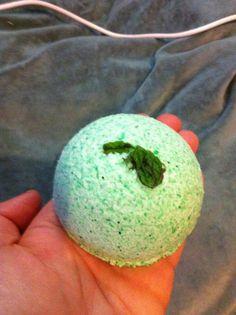 Organic breathe easy bath bomb, sinus clearing eucalyptus and mint on Etsy, $5.00