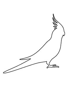 Use the printable outline for crafts, creating stencils… Felt Animal Patterns, Stuffed Animal Patterns, Parrot Image, Parrot Tattoo, Australian Parrots, Quiet Book Templates, Bird Template, Pencil Sketch Drawing, Applique Designs