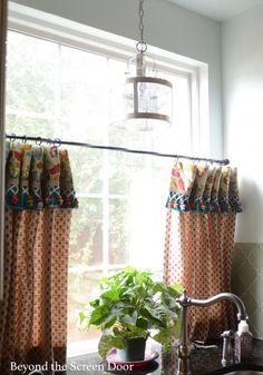 Cafe Curtain with Cuff & Trim (1)