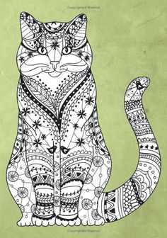 Intricate Animal Coloring Pages. 20 Intricate Animal Coloring Pages. Intricate Animal Coloring Pages Cat Coloring Page, Animal Coloring Pages, Coloring Book Pages, Printable Coloring Pages, Coloring Pages For Kids, Printable Art, Coloring Sheets, Cat Embroidery, Free Adult Coloring