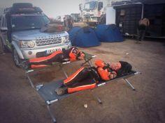 Race2Recovery Team sleeping @ Dakar