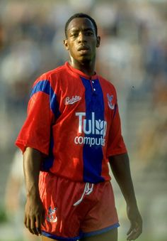 Football Icon, Football Soccer, Ian Wright, Crystal Palace Fc, Blue Army, Goalkeeper, Red And Blue, Nostalgia, Celebrities