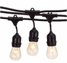 CLICK ON IMAGE TO BUY ☀ Outdoor, weatherproof, String Lights.  ☀ Heavy-duty Commercial Outdoor String Lights Command Warm Luminous accents to any Garden Party, Dance, or Malibu Wedding! Breathe new Life into your favorite Patio, Deck, Pergola and Outdoor space. ☀ Total Hanging Length (end to end): 48 ft | Lead Length from plug to 1st bulb: 3 ft | Bulb Spacing: 3 ft.| Heavy-duty outer rubber construction with Hooks for hanging clips at each socket.