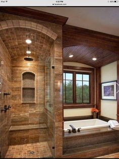Rustic Mod bathroom- love love that shower!!
