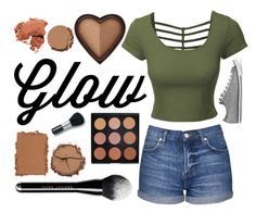 """""""Bronzer"""" by sofiareisballet ❤ liked on Polyvore featuring beauty, LE3NO, Topshop, Urban Decay, Morphe, NARS Cosmetics, Marc Jacobs, Chantecaille, Laura Mercier and Bobbi Brown Cosmetics"""