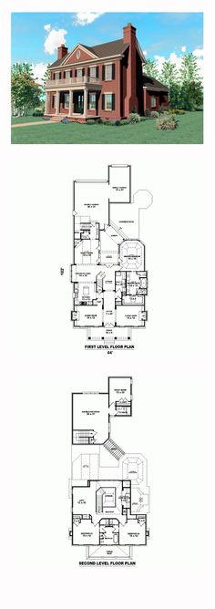 Plantation House Plan 47234 | Total Living Area: 4281 sq. ft., 4 bedrooms and 3 bathrooms. #plantationhome