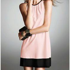 Hp Nwot Vs Color Block Shift Dress